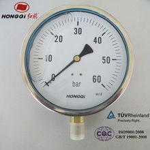 "best quality 4"" bourdon tube pressure meter Lower Mount"