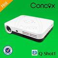 Best quality 3d lowest price mini led projector 1080P 2000:1&600lumen led lamp & lcd panel Concox Q Shot1