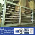 Preço de fábrica direto portão de aço desenho com diferentes cores superfície de revestimento em pó