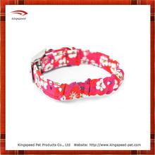 Florid Lily printing dog collar