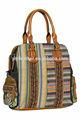3135- ファッションスタイルオリジナルデザインジャカードtraval女性サッチェルバッグ、 トートバッグ、 成熟した女性の派手なファブリックハンドバッグ