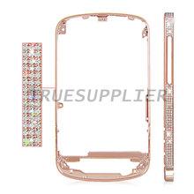 For Blackberry Q10 Diamond Front Bezel Frame Housing Cover Rose Gold