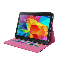 2014 hot selling elegant stand flip leather case cover for tab 4 10.1 with credit card holder