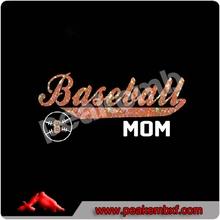 PU heat transfer vinyl Baseball Mom Korea Quality fitted t-shirts
