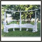 outdoor garden column gazebo with steel roof