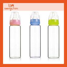 Crystal glass baby feeding bottle