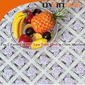 Guangzhou fábrica toalha de mesa impresso rendas pvc toalha de mesa em rolos