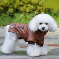 Free Shipping wholesale dog clothes pet clothing dog jacket leather jacket for dogs mix sizes and colors