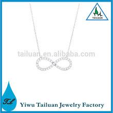 Mini Silver Tone Infinity Necklace