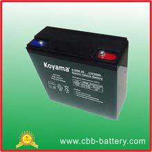 12V 20Ah E-bike/Scooter/E-Moto AGM Lead Acid Battery 6-DZM-20 good quality best battery