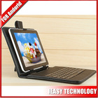 7 inch tablet pc leather keyboard case Android Tablet USB Keyboard Shockproof Mini Micro USB