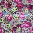 flower digital printed chiffon fabric/reactive dyeing& printing