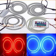 dc12v 5050smd semi circle led halo rings headlights for motorcycle