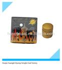 33mm round tablet golden shisha charcoal for hookah