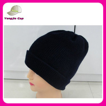 New Fashion Winter cheap beanie hats knitted custom logo