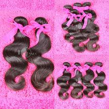 100% virgin black human hairstyle 12-36inch angle hair weave malaysian body wave