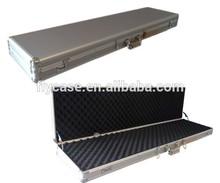 black aluminum gun carrying case with 2 combination locks and foam insert