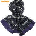 purple borda casual mulheres lenço muçulmano cabeça