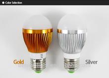 5w led bulb AC 85-265V input 500-600lm Aluminum Alloy+PC 2700-7000k