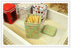 2014 hotsale small customized toothpick tin container