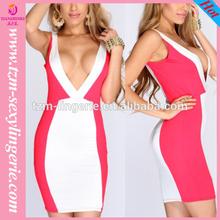 hot sale dress design women fashion women dress clothes 2014,TN149 new v-neck backless formal dress nightclub