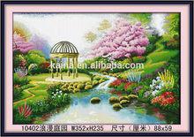 FAMOUS DIGITAL CHINESE SPRING VILLAGE DIY DIAMOND HOME PAINTING ROMANTIC COUNTYARD