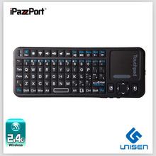 Ipazzport Google/andriod tv mini tastiera wireless in silicone a buon mercato oem tastiera smart tv tastiera russo, arabo, ebraico