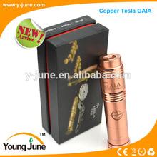 Top electronic cigarette tesla mod creative three color magnetic mechnical mod Tesla GAIA vape mod