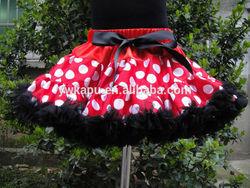 Beautiful wholesale red white polka dots pettiskirt