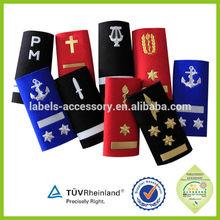rank epaulettes military uniform cords