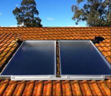 Split Blue Film Flat Panel solar system hot water heater