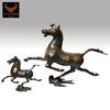 art deco bronze sculptures Horse riding Chebi