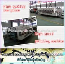 automatic carton box printing machine corrugated flexo slotting from cangzhou city