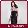 2014 sexy bronzing v neck black knee length short chiffon cocktail dresses