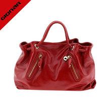 custom make famous designed genuine leather patent tote leather bag