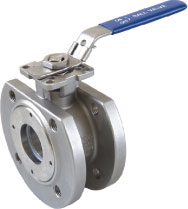 casting steel 1pc wafer flange ball valve(din) with mounting pad manufacture in China