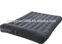 China outdoor air inflatable mattress inflatable flock air mattress