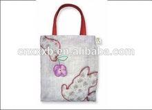 2014 Green Fashion cotton eco bag personalised girls gym school drawstring cotton