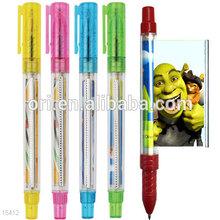 Promotional branded cheap banner pens, Ad Function Plastic flag Pen
