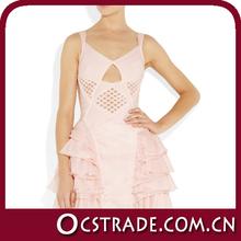 2014 gracioso rosa cinderela vestidos menina real amostra