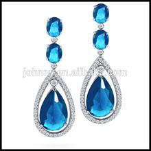 Beautiful Big Blue Stone Fashion Earring