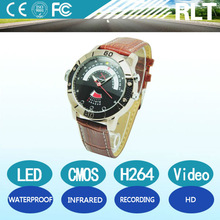 H264 LED HD infrared night vision mini watch hidden camera with waterproof recording function