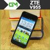 Original ZTE V955 4.5'' MSM8225 Dual Core Mobile Phone Android 4.0 Dual SIM WCDMA GPS Russian Multi Language