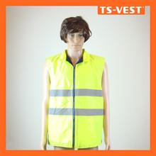 Cheap 210D Oxford Fabric Pocket Reflective Safety Jacket