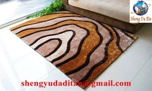 hand tufted 100% polyester silk tapetes shaggy floor carpet and rug for home decoration SYD Brand