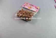 Best sell round craft wooden beads girls diy wooden bead set