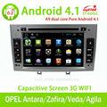Carro rádio gps para android puro 4.1 opel astra/zafira/corsa dvd carro com bluetooth/rádio/tv/gps/3g/wifi/android! Grey