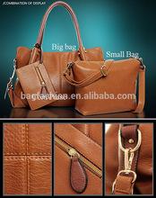 fashion Women Lady Handbag Leather Shoulder Bag Messenger Bag in Bag 3 Piece/Set