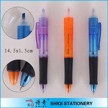 Promotional 4 in 1 plastic highlighter ball pen