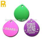 2014 Customized blank QR code aluminum pet id tag